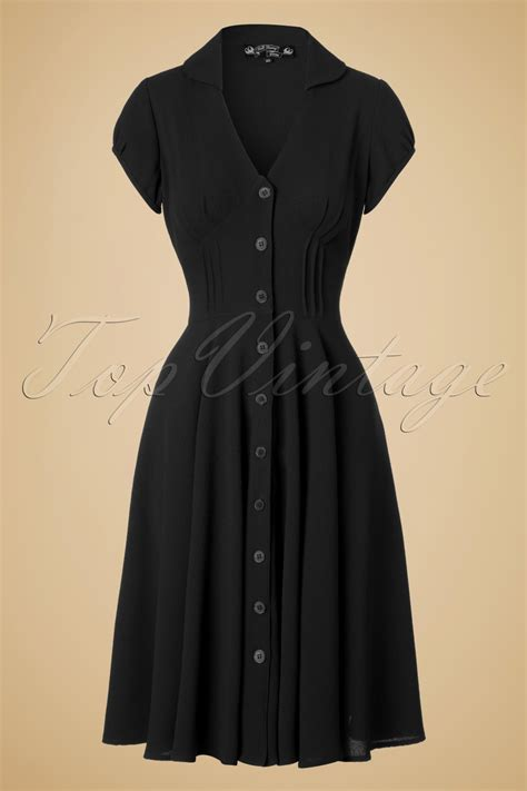 40s swing 40s keely swing dress in black