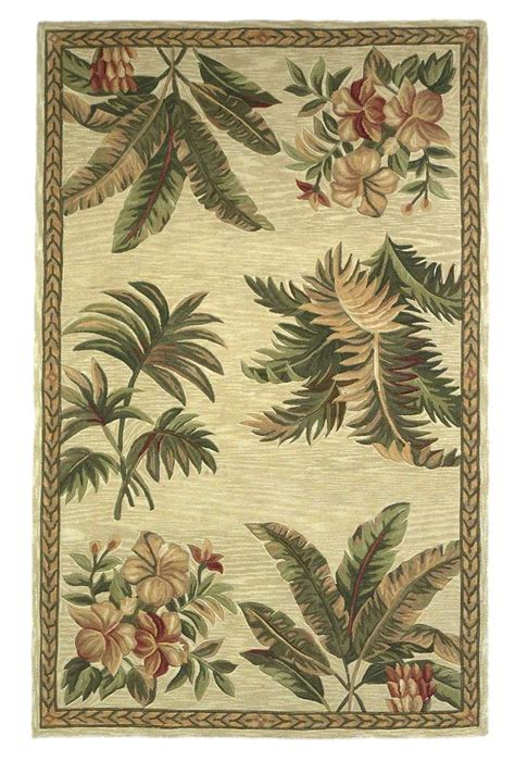 Area Rugs Hawaii Sparta 3133 Ivory Tropical Oasis Area Rug By Kas Rugs
