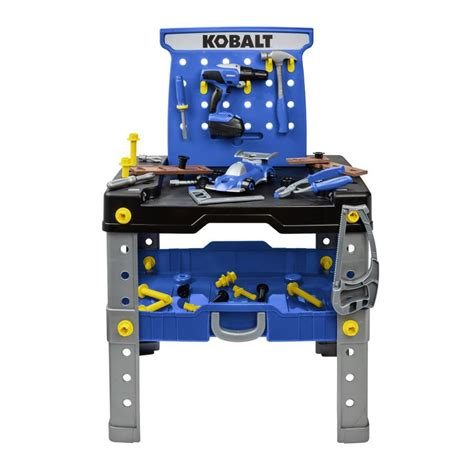 kids work bench and tools shop kobalt toy 54 pc workbench and tool set at lowes com