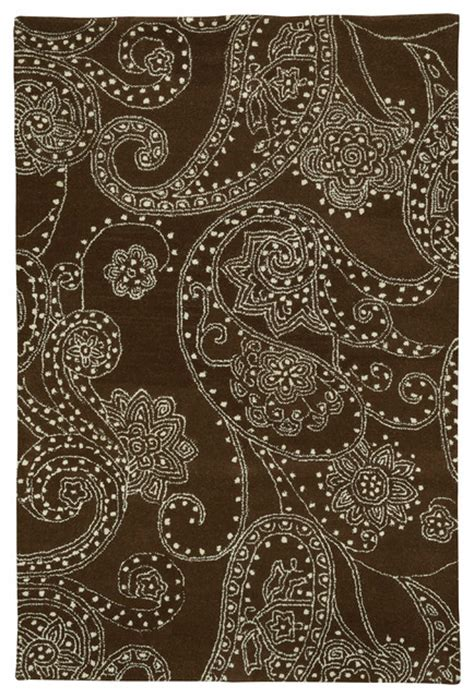 Brown Paisley Rug by Sands Modern Highlights Paisley Brown Area Rug