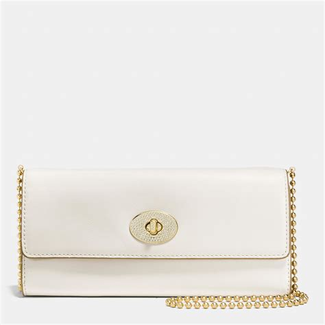 Coach Slim Envelope Wallet lyst coach slim envelope wallet with pave turnlock in