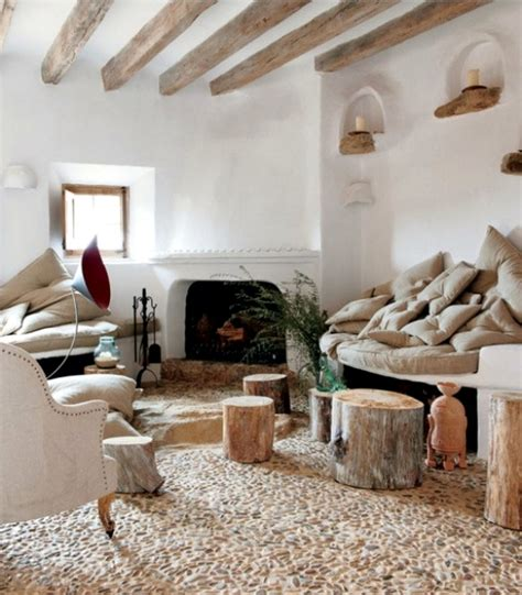 dring room interior 17 ideas for using river stones as interior decoration