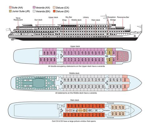 cruise ship floor plan about the viking akun viking river cruises