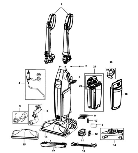 hoover floormate parts diagram hoover fh40160 floormate deluxe parts