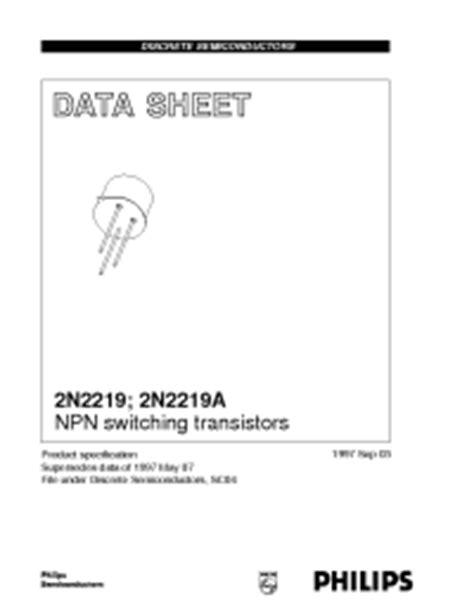 Quality Transistor Tr 2n2219 2n2219a 2n 2219 A Npn New 2n2219a philips npn switching transistors