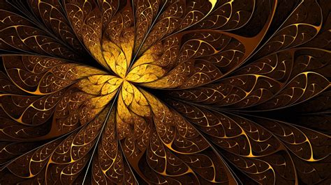 golden wallpaper golden swirling leaves hd hd 3d and abstract wallpapers