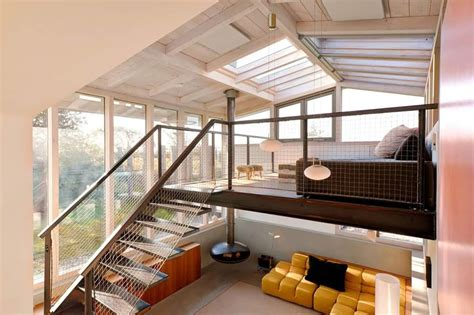 home design a loft with glass ceiling