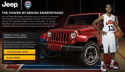 design your dream jeep build your dream jeep wrangler win a trip to washington d
