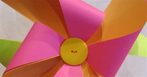 How To Make A Paper Pinwheel That Spins - wendys hat how to make a paper pinwheel tutorial