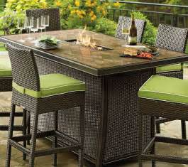 patio furniture with gas pit table chicpeastudio