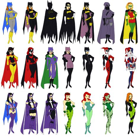Dress Della Dc gotham dress up character chart by evilfuzzle2