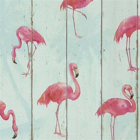 flamingo wallpaper ebay rasch barbara becker flamingo wallpaper teal 479706 wood