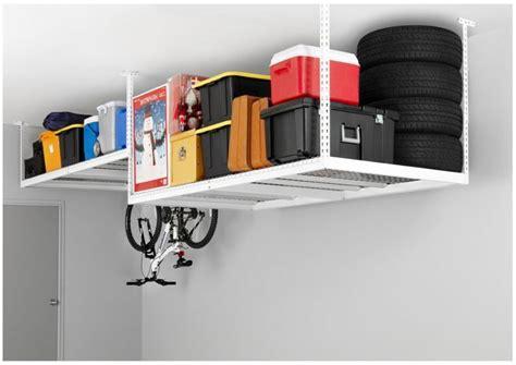 Ceiling Mounted Storage For Garage by Overhead Garage Ceiling Rack Adjustable Hanging Storage