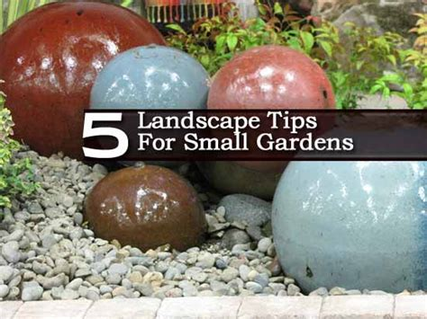 5 landscape gardening tips for small spaces