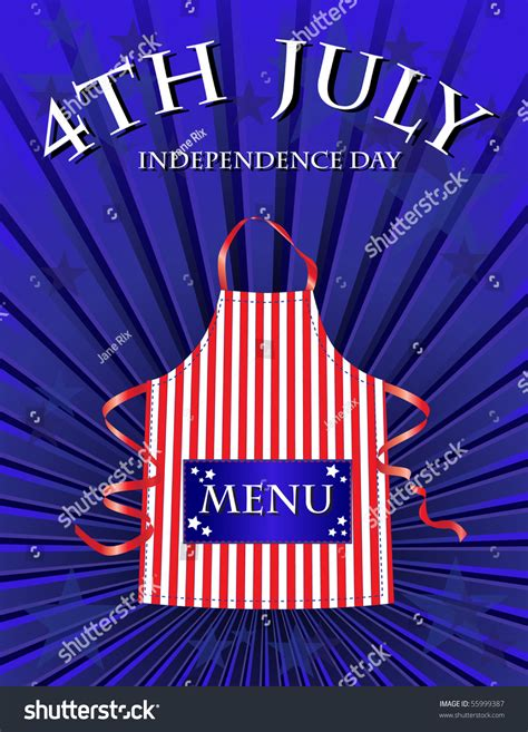 a 4th july independence day menu template stock photo