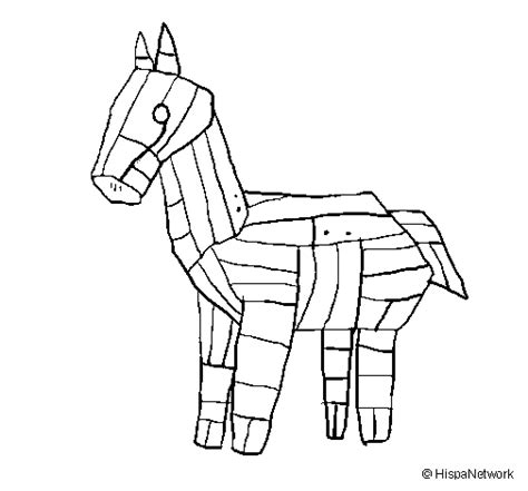 coloring pages of trojan horse colored page trojan horse painted by a