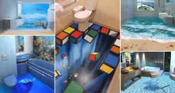 13 3d bathroom floor designs that will mess with your mind