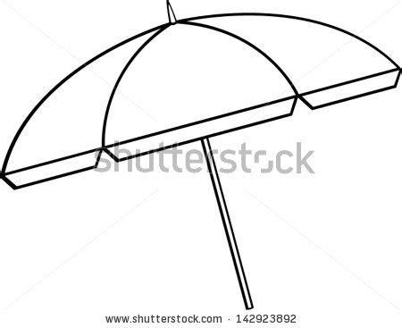 sun umbrella coloring page beach umbrella template clipart best