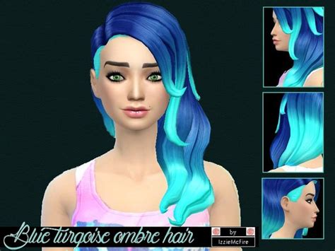 sims 4 ombre hair sims 4 hairstyle archives sims 4 downloads