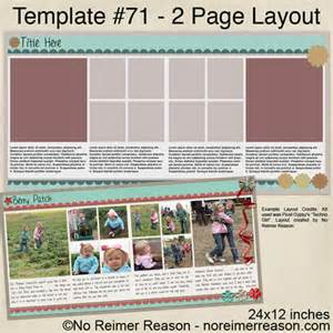 Free Digital Scrapbook Pages Templates by Scrapbook Freebies No Reimer Reason