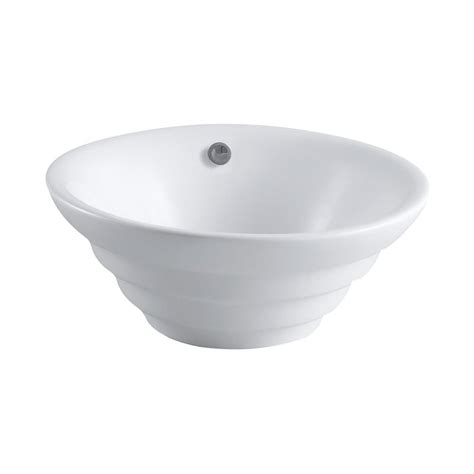 Vessel Sink With Overflow by Elements Of Design Allegro White Vessel Bathroom