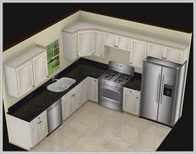 L Shaped Kitchen With Island Layout pics photos 10x10 kitchen layout with island