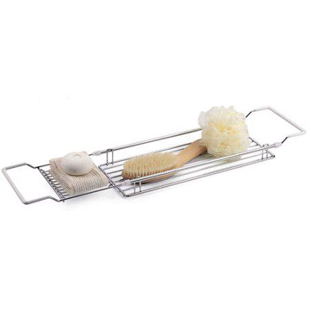 Neu Home Expandable Over The Tub Bath Caddy Chrome