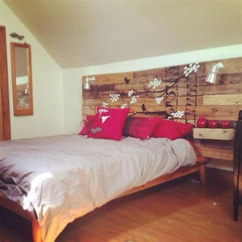 pallet bed headboard with shelves pallet ideas recycled