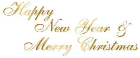 gold happy  year  merry christmas png text gallery yopriceville high quality images