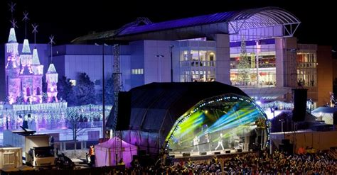 blue host christmas lights switch on at cribbs causeway in