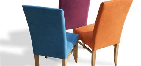 Multi Coloured Dining Chairs Handmade Fully Upholstered Bladeback Dining Chairs In Solid Oak Walnut
