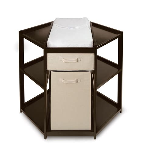 Basket Changing Table Badger Basket Espresso Corner Changing Table With Her And Basket By Oj Commerce 02208