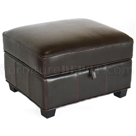 colored leather ottoman brown color cube shape leather ottoman with storage