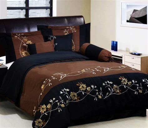 brown comforter sets queen queen chocolate brown black