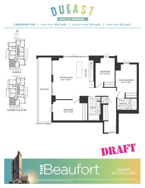 daniels high park floor plans dueast condos floorplans pricing platinum access