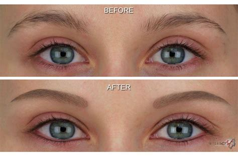 tattoo on eyebrows how safe before after photos of microart semi permanent makeup