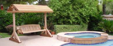 wood free standing patio swing pdf plans