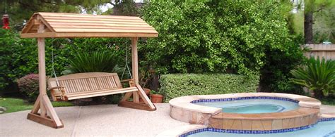 swing patio wood free standing patio swing pdf plans