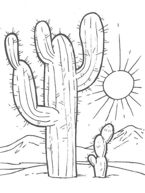 christmas cactus coloring page coloring pages