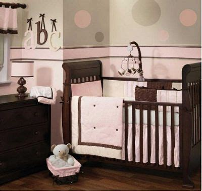 pink and brown nursery ideas modern pink and brown baby girl nursery crib bedding set