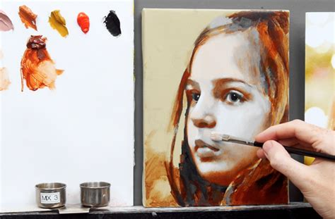 acrylic paint glaze recipe how to glaze an portrait for beinngers course