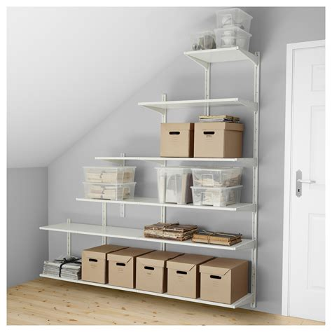 full image for stair shelves walls ikea shelf ideas under algot wall upright shelves white 189x41x57 197 cm ikea