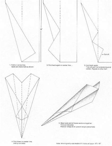 How To Make A Paper Airplane Fly Farther - the gallery for gt how to make a paper airplane jet that
