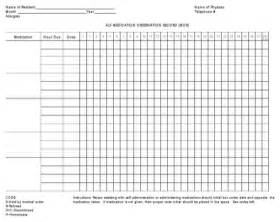 Medication Administration Record Template Pdf by Chart Template For Excel Pdf And Word