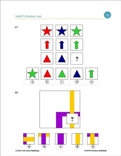 Practice Test For The Nnat 2 First Grade Ebook Version