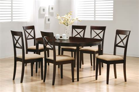 cappuccino dining room furniture cappuccino oval dining table w leaf 100770 tables