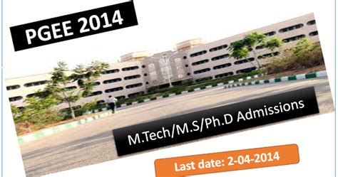 pgee   admission  mtech ms  research phd programmes  iiit hyderabad