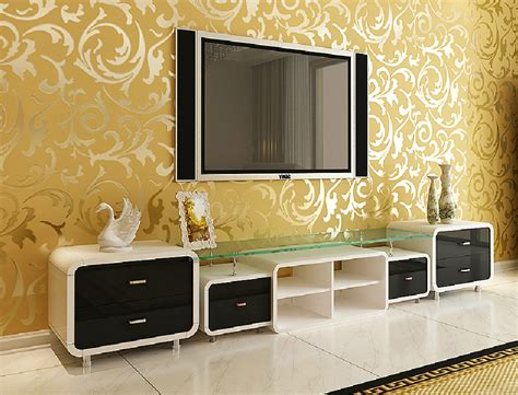 yellow 3d wallpaper tv wall new home new home