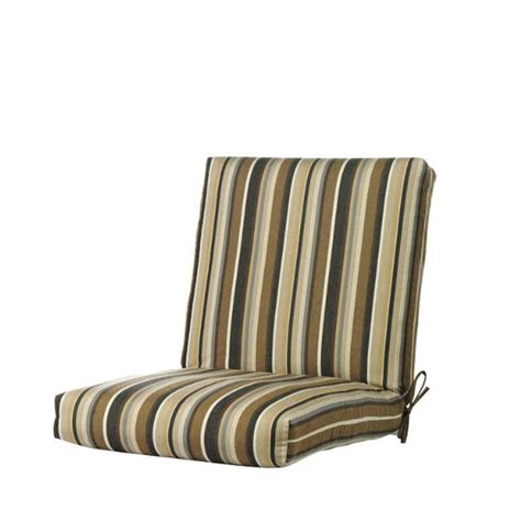 Sunbrella Dining Chair Cushions Home Decorators Collection Sunbrella Espresso Stripe Outdoor Dining Chair Cushion 1573130880