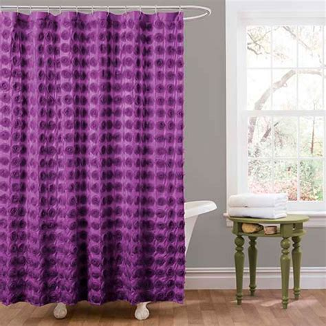 purple bathroom curtains emma purple shower curtain lush decor shower curtains bath